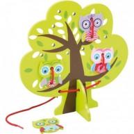 Legler fűzőcskés készségfejlesztő játék - baglyok a fán 5895