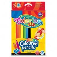 Colorino JUMBO háromszögű vastag 6db-os színes ceruzakészlet   15516PTR