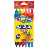Colorino Kids zsírkréta olaj pasztel háromszög alakú 12db-os 32636