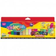 Colorino Kids gyurma mix 18 szín 6 különleges színnel 57424