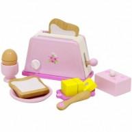 Mentari kenyérpirító játék pirítóssal vajjal és tojással 4280