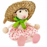 IMP-EX rugós bárány lányka figura kalapban 3843-90