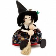 IMP-EX rugós boszorkány figura fekete kalapban és ruhában 3843-112