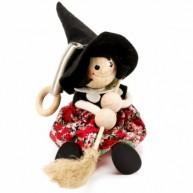 IMP-EX rugós boszorkány fekete kalapban és piros ruhában 3843-112