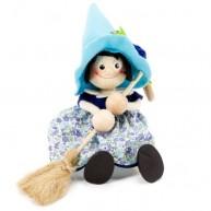 IMP-EX rugós boszorkány figura kék kalapban 3843-111