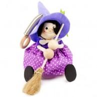 IMP-EX rugós boszorkány figura lila ruhában 3843-113