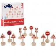 Legler játék KRESZ táblák fából 10331