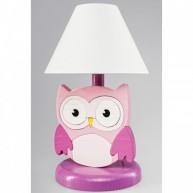Éjjeli lámpa gyerekszobába Baglyos - rózsaszín