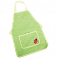 BIGJIGS kötény festéshez - kertészkedéshez katica mintával zöld BJ298