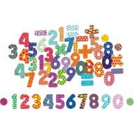 Vilac mágneses számok és műveleti jelek fadobozban 6704
