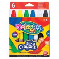 Colorino Kids selyem zsírkréta Twist-Up kitekerhető tartóval 6db 36061