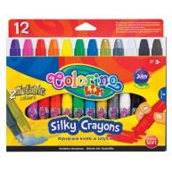 Colorino Kids selyem zsírkréta lágy anyagú 12db-os arany és ezüst zsírkrétával 36078