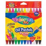 Colorino Kids olajos zsírkréta olaj pasztel 24db 2 metál és 4 neon színnel 36085