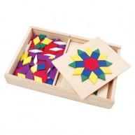 Viga fa mozaik játék különböző feladatlapokkal 0575