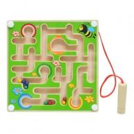 Mágneses golyóvezető játék kicsi - zöld 3495-A