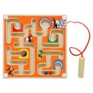 Mágneses golyóvezető játék kicsi narancssárga 3495-B
