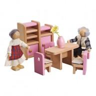 Babaházba való bababútor - játék ebédlő 3512B
