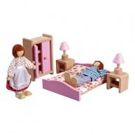 Bababútor babaházba - játék hálószoba 3512E