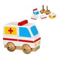 IMP-EX játék mentőautó szétszedhető 2262A