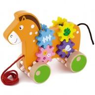 VIGA húzható játék lovacska fogaskerekekkel 1 éves kortól 4237-A