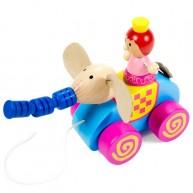 Húzható játék elefánt hercegnővel 3161-A