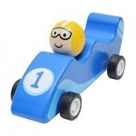 Felhúzható játék F1 autó kék 3500D