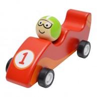 Felhúzható játék F1 autó piros 3500C