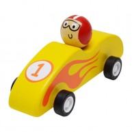 Felhúzható játék F1 autó sárga 3500A