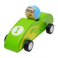 Felhúzható játék F1 autó zöld 3500B