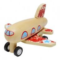 Felhúzható játék repülő piros 3502C