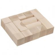 Fa építőkocka natúr 5 cm-es - 20 db-os 0217