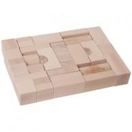 Fa építőkocka natúr 4 cm-es - 38 db-os 0216