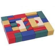 Fa építőkocka színes 4 cm-es - 38 db-os 0212