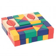 IMP-EX Fa építőkocka színes 3 cm-es 60 db-os 0214