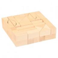Fa építőkocka natúr 3 cm-es - 60 db-os 0218