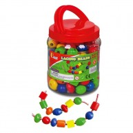 Viga Fa gyöngyök műanyag dobozban - 90 darabos készlet   0565