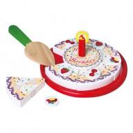VIGA fa szeletelhető szülinapi játék torta papírdobozban 0782