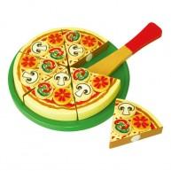 VIGA fa szeletelhető játék pizza 0781