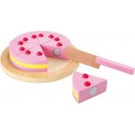Legler fa szeletelhető játék eper torta tálcán 1211