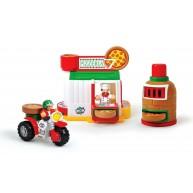 WOW Toys Mario pizzériája pizza futárral és kemencével 10300