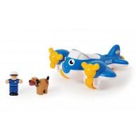 WOW Toys Pete rendőrségi repülő, rendőrrel és kutyával 10309