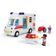 WOW Toys Robin a mentőautó ápolóval és 1 sérülttel 10141