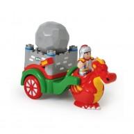 WOW Toys George középkori lovag sárkányfogatával