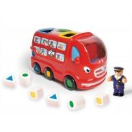 WOW Toys Leo a londoni autóbusz és formakereső játék egyben 10720