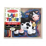 Melissa & Doug fűzőcskés játék - farm állatai 5db 3781