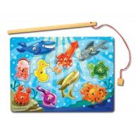Melissa & Doug mágneses horgász puzzle  - tenger állatai 3778