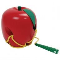 Viga Fűzőcskés fajáték - alma és kukac  0577