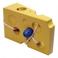 VIGA fa sajtos fűzőcskés játék egérkével - 0576