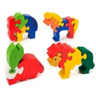 Puzzoo 3D puzzle,  állatok 4db-os 0908