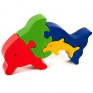 Puzzoo 3D puzzle , delfin kicsinyével 1632